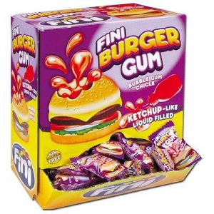 Chicle fini burger gum     200 pz