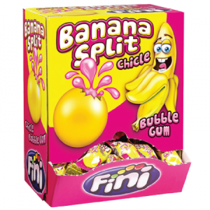 Chicle banana gum     200 pz