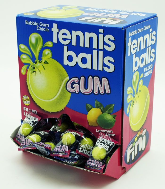 Chicle tennis balls gum   200 pz