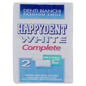 Happydent chewing gum white complete   60 gr