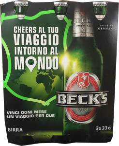 Beck's birra     330ml x3