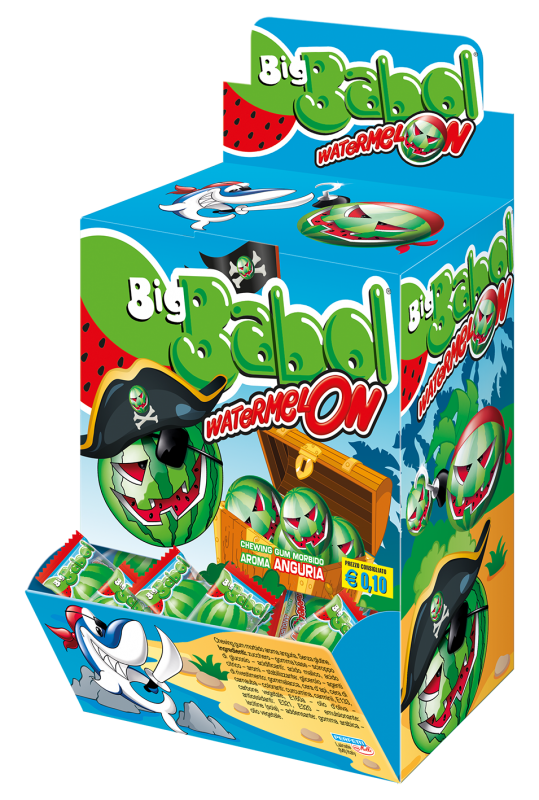 Big babol chewing gum watermelon   200 pz