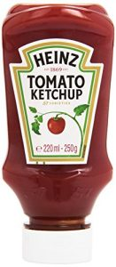 Heinz ketchup top down   220 ml