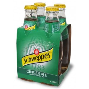Schweppes ginger ale   180ml x4