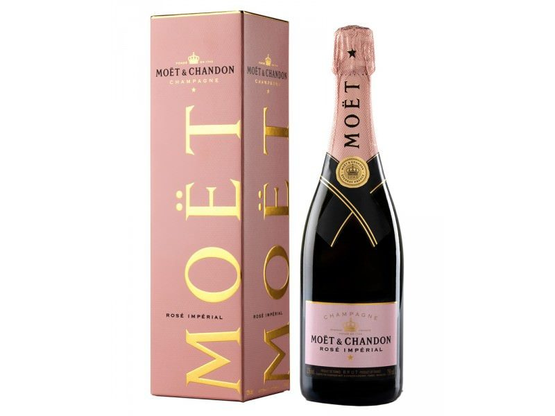 Moet & chandon champagne brut rose' imperial   750 ml