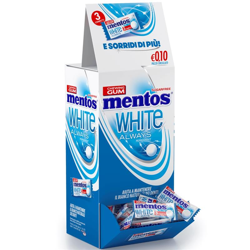 Mentos white pepper   200 pz